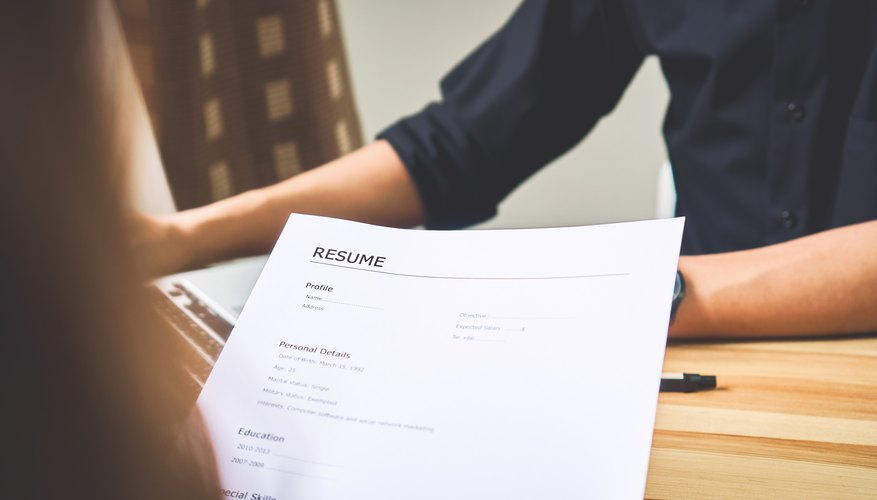 How To List Training Received On A Resume Bizfluent