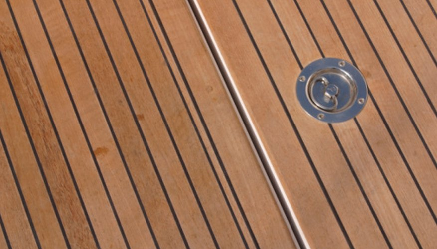 Teak decking is often used in marine construction.