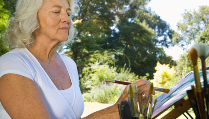 Art grants can provide opportunities for older women to further their art careers.