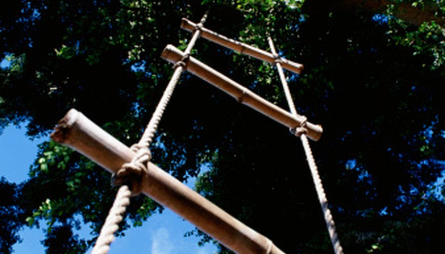 The Jacob's ladder is easy to climb, but somewhat more difficult to store.