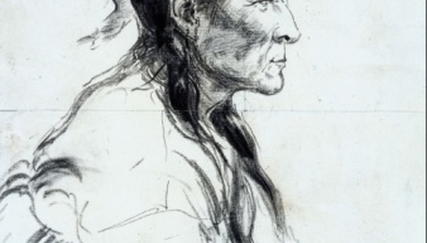 Drawing a portrait in profile represents a common pose in portrait art.