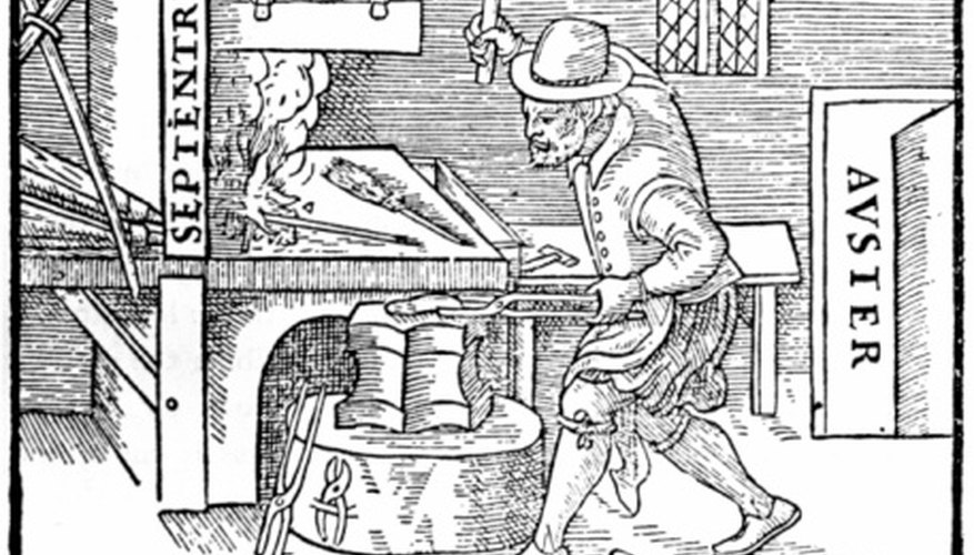 The tools and equipment used in medieval forges depended on the purpose of the forge.