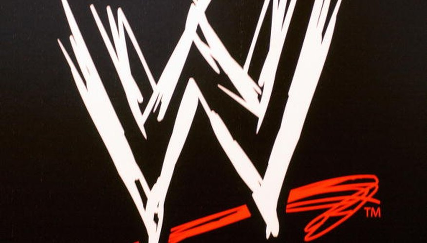 The WWE logo appears several times on the title belt.