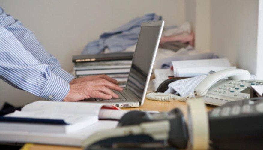 Las computadoras se usan cada día en la administración de negocios.