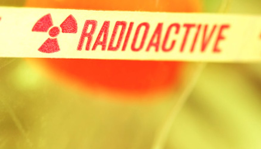 Radioactive tracers require care in handling.