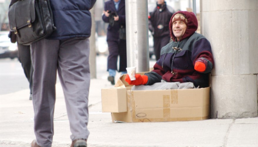 Indigent care provides medical help for the homeless.