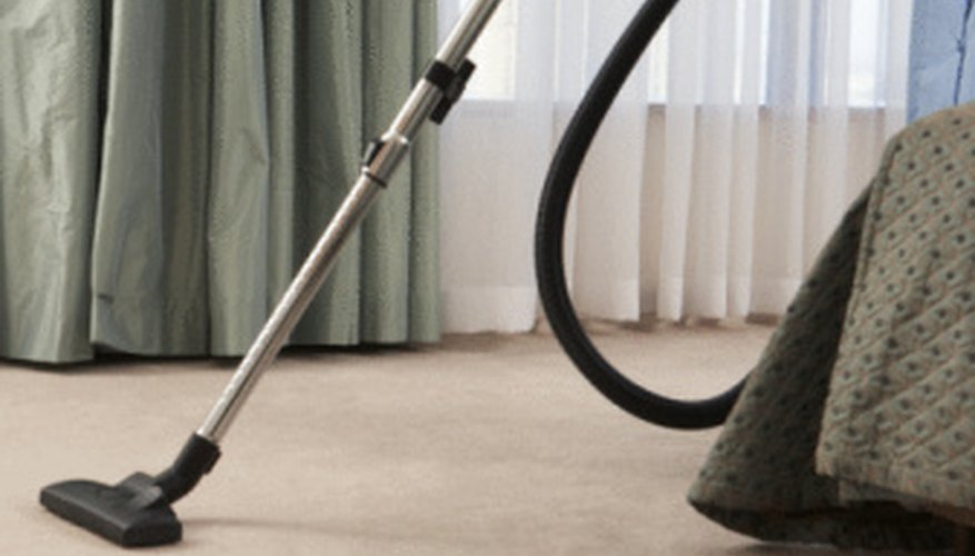 Vacuuming is a vital part of getting rid of fleas.