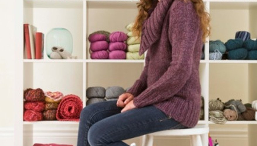 With yarn and an afghan hook, many lovely items can be created.
