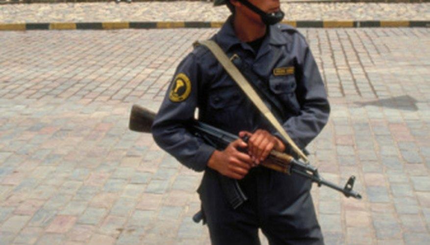 SWAT team members train on a variety of weapons.