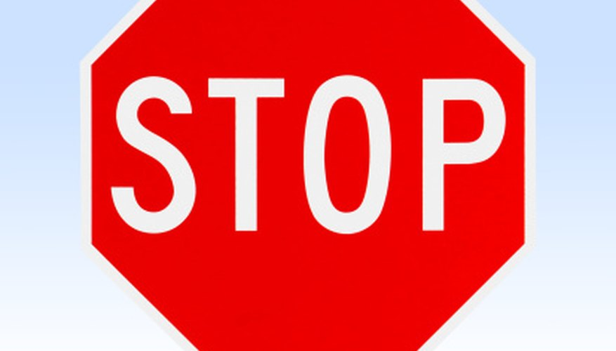 A stop sign is an octagon.