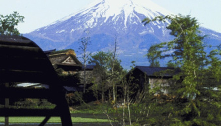 Mt. Fuji in Japan is a composite volcano, also known as a stratovolcano.