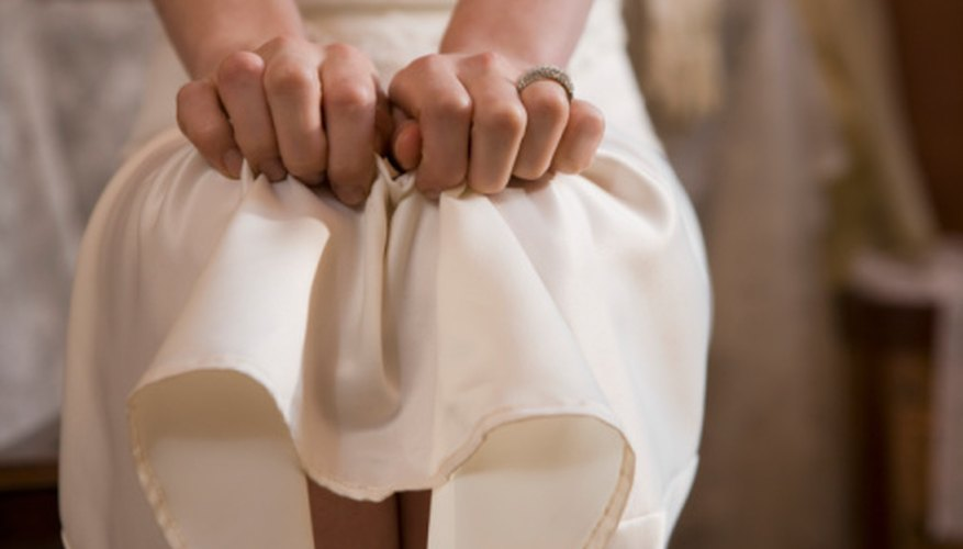 Make a hemline neat by serging the edge of the fabric.