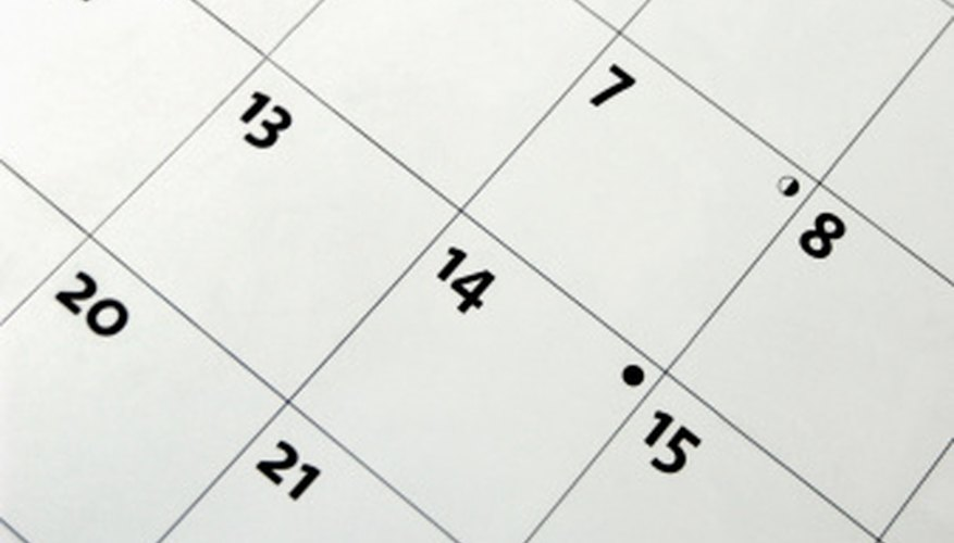 Your calendar -- whether paper or electronic -- guides all your actions as a concert producer.