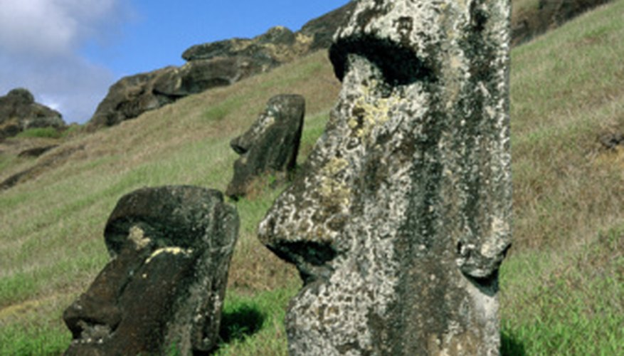 Easter Island's famous moai represent honored ancestors.