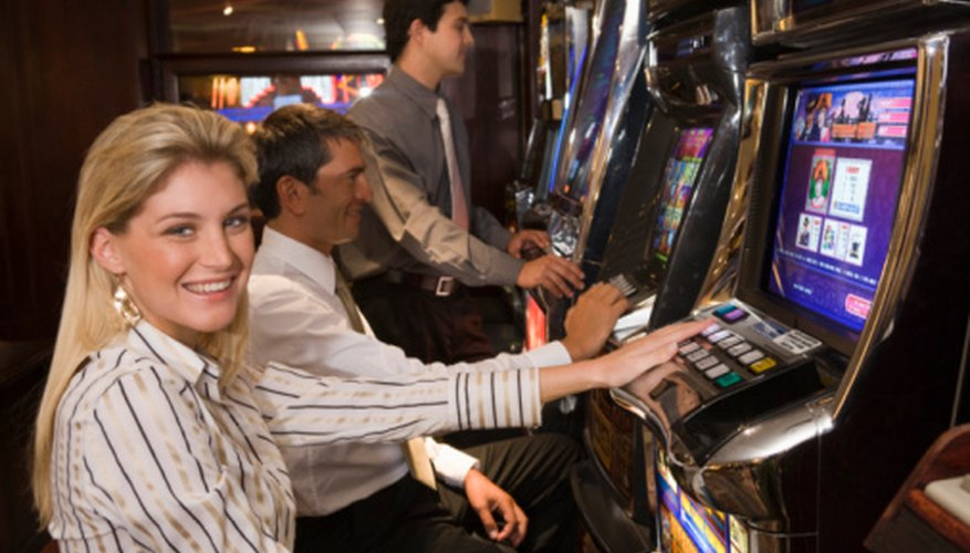 Slot machines offer the chance to win a big jackpot by wagering a small amount.