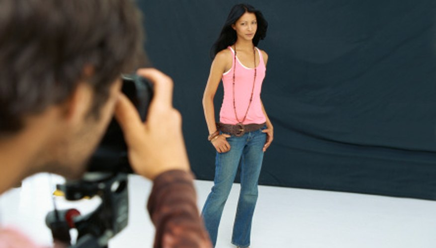 Modeling portfolios include professional photos, comp cards and the model's resume.