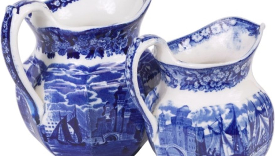 Many Japanese-inspired blue and white pieces were actually made in England