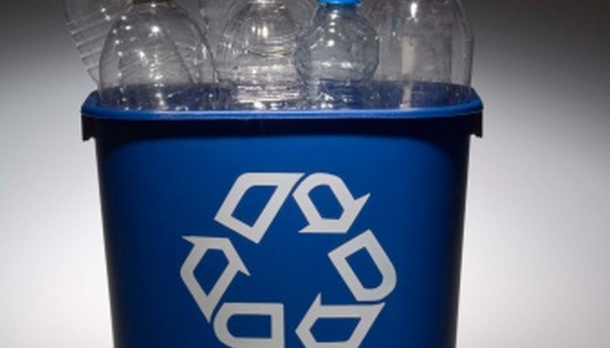 Plastic bottles are widely recyclable.
