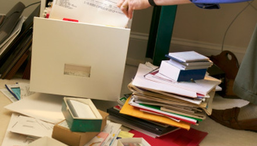 A messy home office may negate the entire purpose of the space.