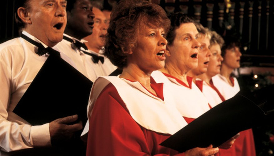 Arranging a choir by voice section creates a unified, yet distinct sound.