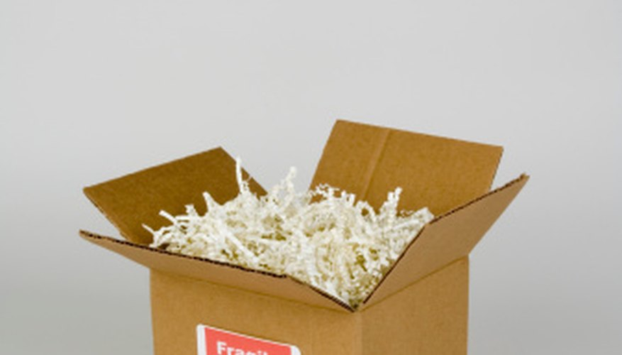 Label packaging containing fragile items for special handling.