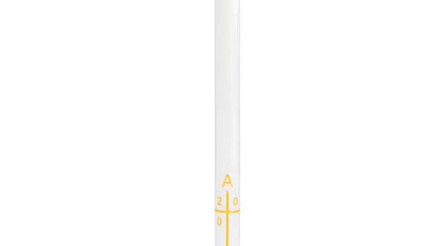 The Paschal candle stays lit during the Easter season.