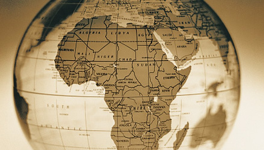 Africa spans the Northern and Southern Hemisphere.