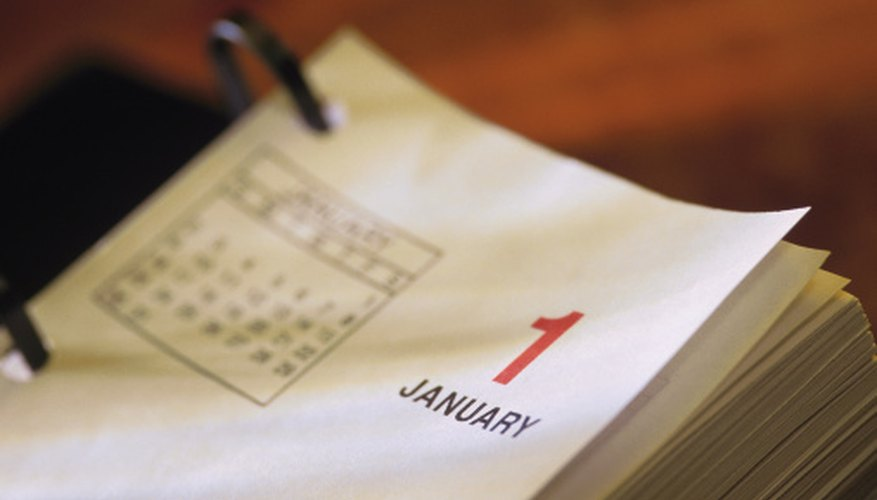 An individual's fiscal year starts on January 1 of every year and goes until December 31.
