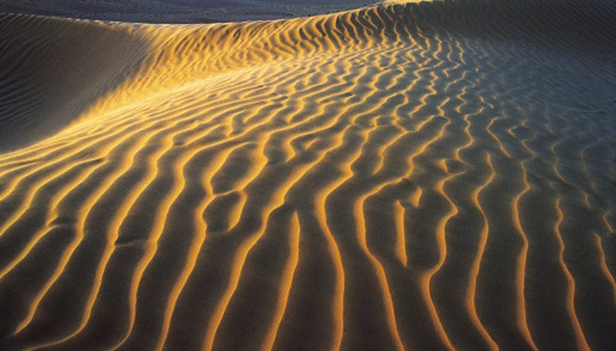 Desert terrain can range from sandy to icy.