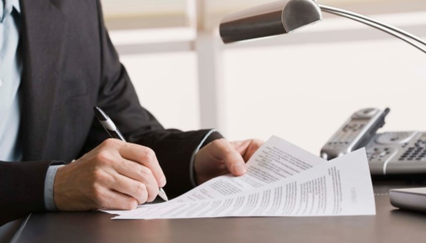 how to fill out a bid memo bizfluent