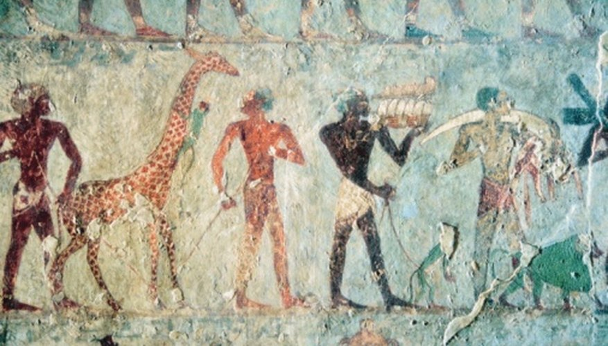 Ancient Egyptian art is vibrant, orderly, and colorful.