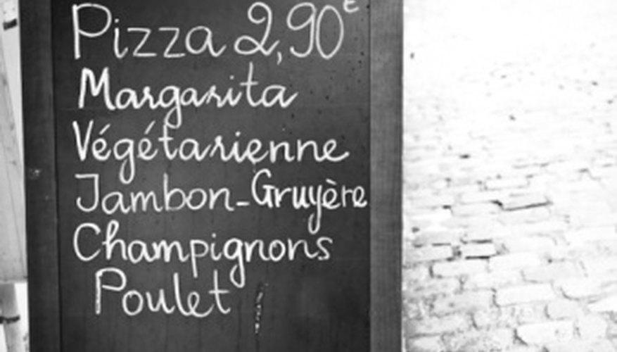 how to make a homemade restaurant menu bizfluent