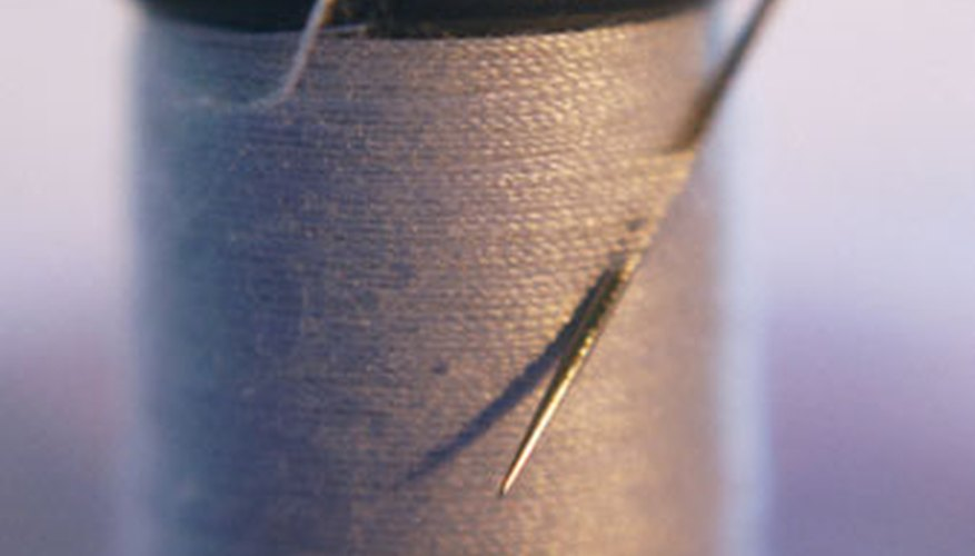 Stitch welted pockets closed with matching colored thread.
