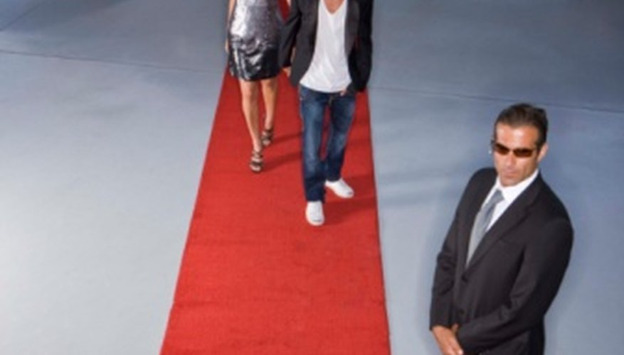 If your star needs red-carpet treatment, the concert producer orders the red carpet.