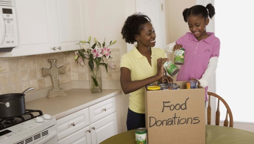 Organizing a food drive can be a special project for corporations.