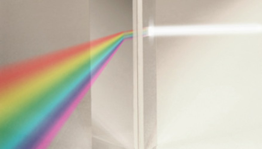 A prism will disperse white light into its component colors.