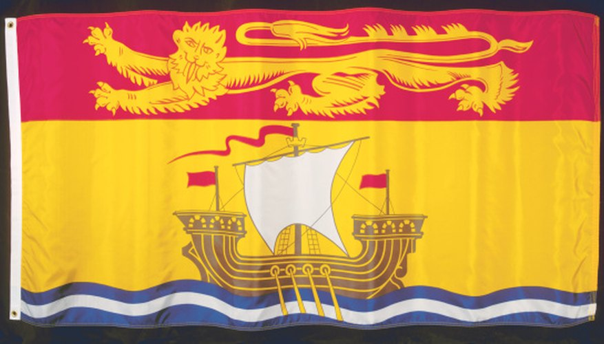 The flag of New Brunswick.