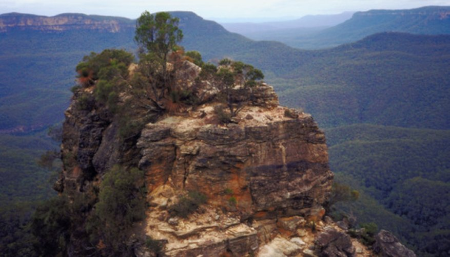 The Blue Mountains are located along Austrialia's Great Dividing Range.