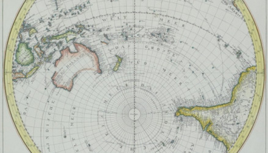 Australia and Antartica are entirely located in the Southern Hemisphere.