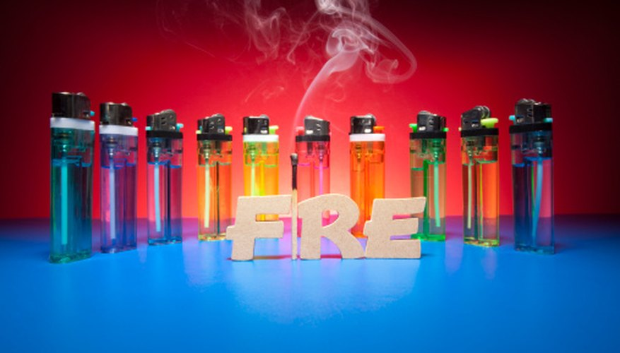 Butane lighters can be used to create some interesting tricks.