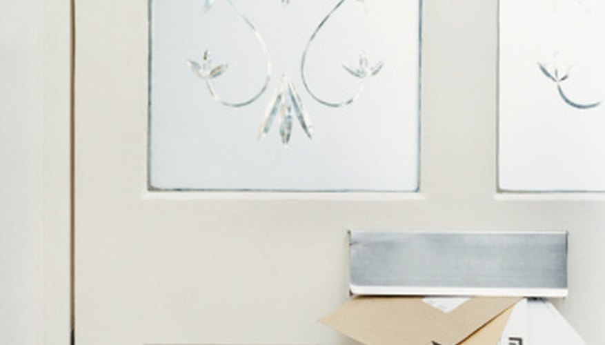 Make your own frosted glass using glass etching cream.