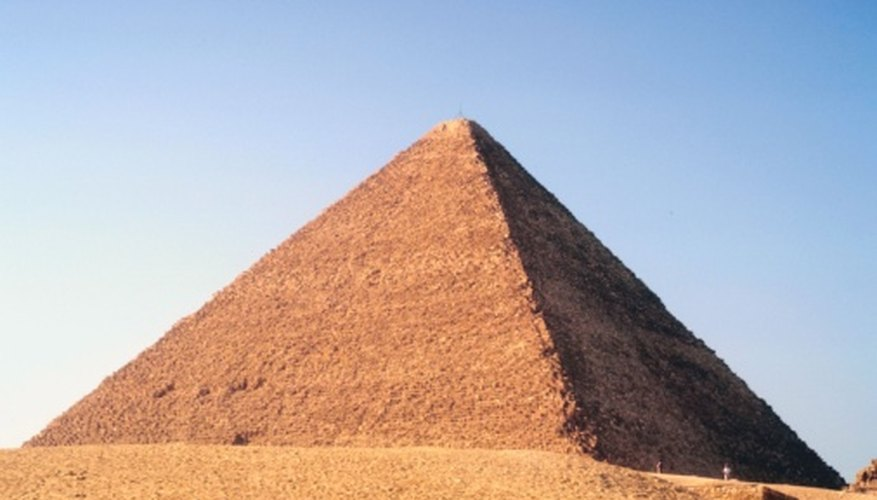 The angle of the edge of the great Khufu pyramid in Egypt is calculated to be at about 41 degrees.