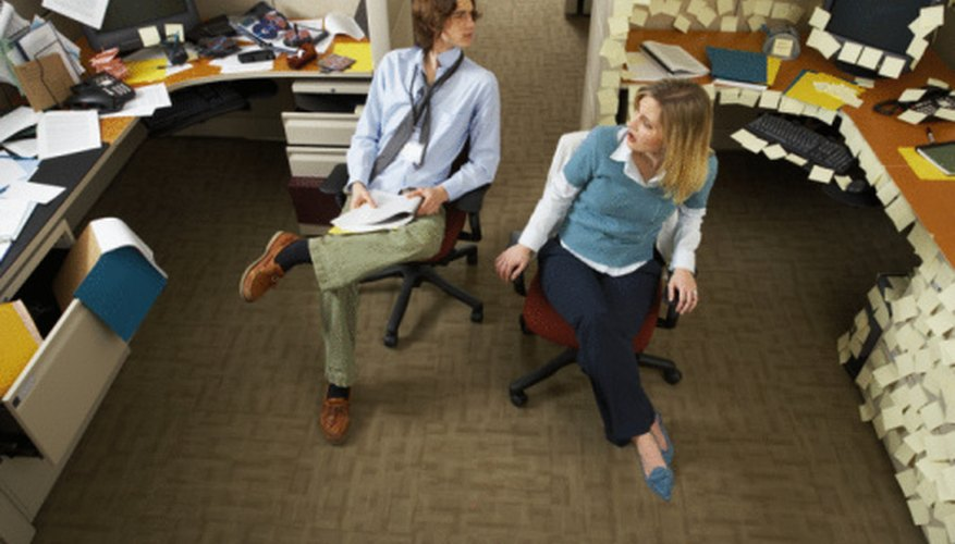 Avoid clutter in your office space.