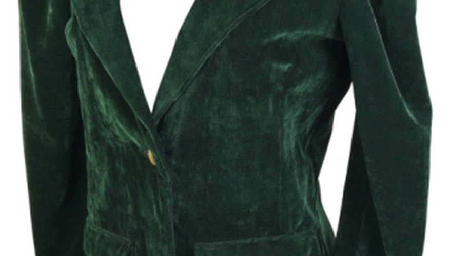 Velour is often used for coats and robes.