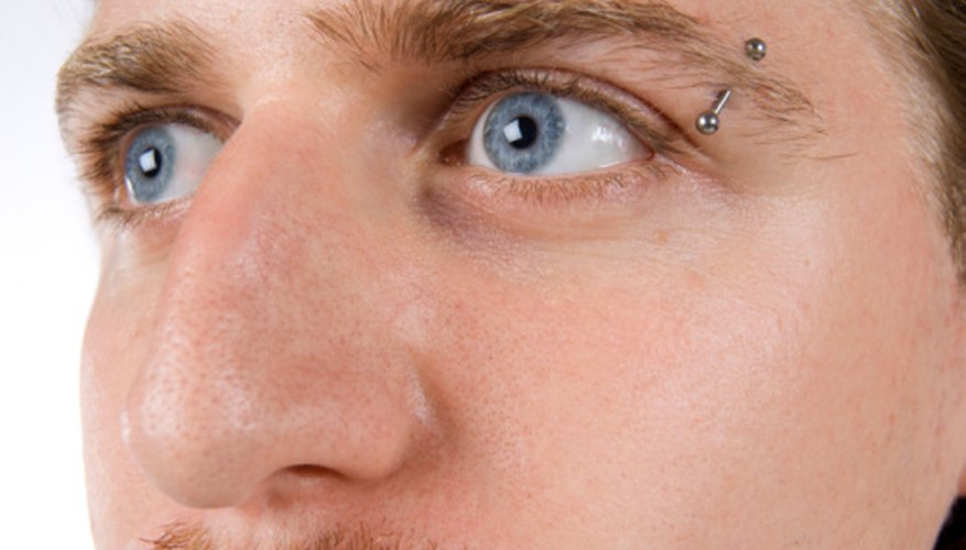 An eyebrow piercing is a common type of surface piercing.