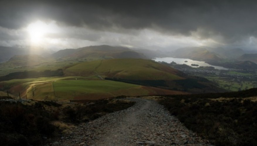 Hills and mountains capture precipitation and affect the local climate.