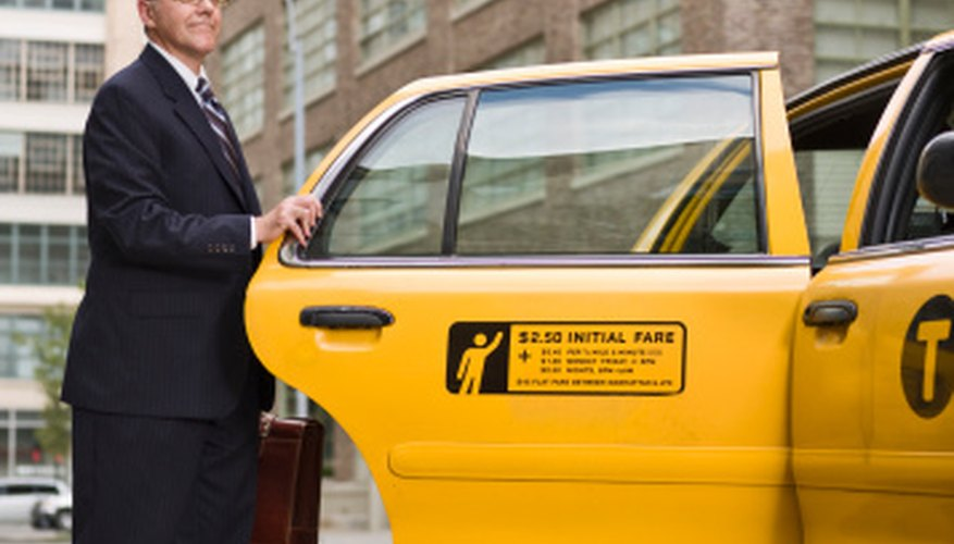 Car doors are used to display business information.
