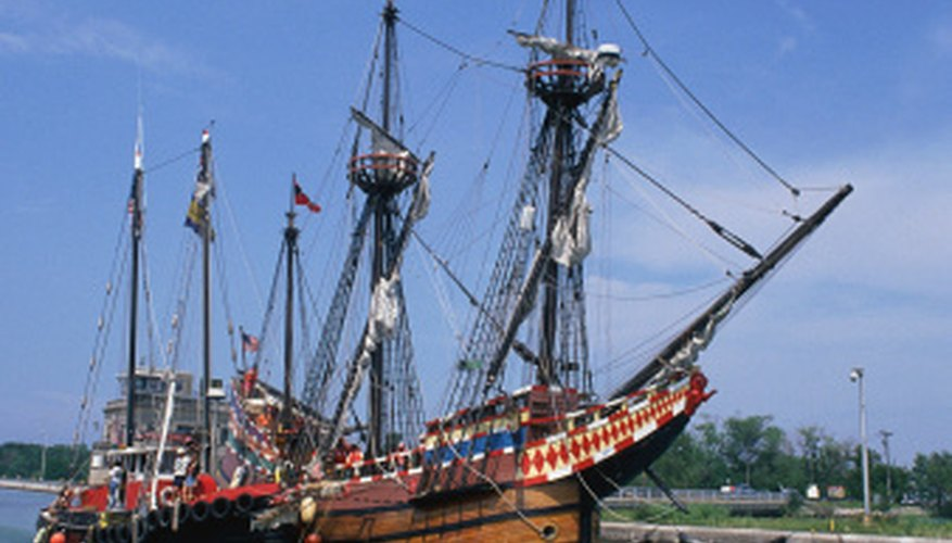 Black Pearl is based on a 17th Century Spanish galleon.