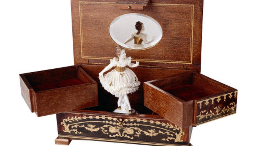 A music box makes an excellent gift for a young girl.