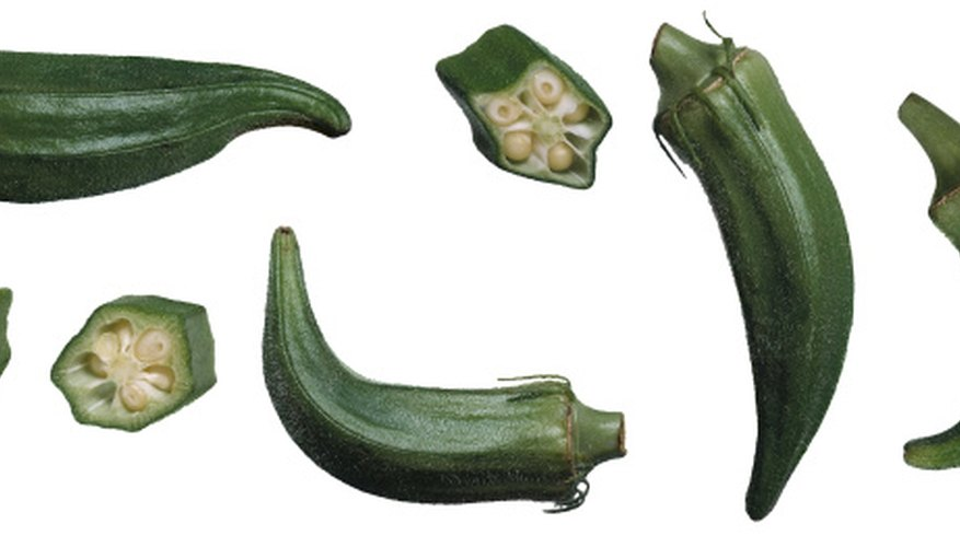 Okra is most known for the long, slender fruit.